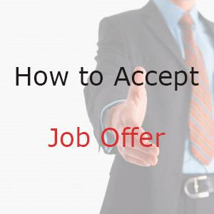Tips on how to accept job offer